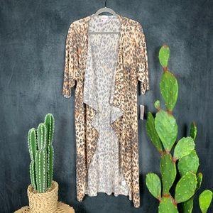 🆕Lularoe Cheetah Print Shirley Duster Cardigan🌵